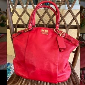 ❤️🔥EUC Coach Red Madison Handbag
